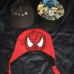 3 kid hats